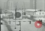 Image of Friedrichstrasse checkpoint of Berlin Wall Berlin Germany, 1961, second 12 stock footage video 65675063223