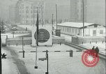 Image of Friedrichstrasse checkpoint of Berlin Wall Berlin Germany, 1961, second 13 stock footage video 65675063223