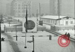 Image of Friedrichstrasse checkpoint of Berlin Wall Berlin Germany, 1961, second 14 stock footage video 65675063223