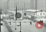 Image of Friedrichstrasse checkpoint of Berlin Wall Berlin Germany, 1961, second 15 stock footage video 65675063223