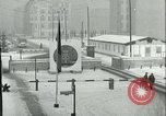 Image of Friedrichstrasse checkpoint of Berlin Wall Berlin Germany, 1961, second 18 stock footage video 65675063223