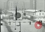 Image of Friedrichstrasse checkpoint of Berlin Wall Berlin Germany, 1961, second 20 stock footage video 65675063223