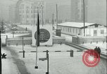 Image of Friedrichstrasse checkpoint of Berlin Wall Berlin Germany, 1961, second 23 stock footage video 65675063223