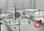 Image of Friedrichstrasse checkpoint of Berlin Wall Berlin Germany, 1961, second 24 stock footage video 65675063223