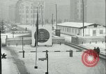 Image of Friedrichstrasse checkpoint of Berlin Wall Berlin Germany, 1961, second 25 stock footage video 65675063223