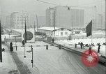 Image of Friedrichstrasse checkpoint of Berlin Wall Berlin Germany, 1961, second 29 stock footage video 65675063223