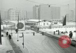 Image of Friedrichstrasse checkpoint of Berlin Wall Berlin Germany, 1961, second 32 stock footage video 65675063223