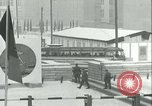 Image of Friedrichstrasse checkpoint of Berlin Wall Berlin Germany, 1961, second 36 stock footage video 65675063223