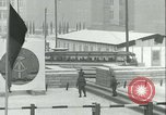Image of Friedrichstrasse checkpoint of Berlin Wall Berlin Germany, 1961, second 37 stock footage video 65675063223