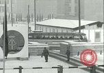 Image of Friedrichstrasse checkpoint of Berlin Wall Berlin Germany, 1961, second 39 stock footage video 65675063223