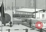Image of Friedrichstrasse checkpoint of Berlin Wall Berlin Germany, 1961, second 42 stock footage video 65675063223