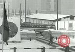 Image of Friedrichstrasse checkpoint of Berlin Wall Berlin Germany, 1961, second 44 stock footage video 65675063223