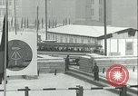 Image of Friedrichstrasse checkpoint of Berlin Wall Berlin Germany, 1961, second 45 stock footage video 65675063223