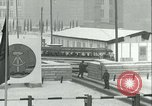 Image of Friedrichstrasse checkpoint of Berlin Wall Berlin Germany, 1961, second 46 stock footage video 65675063223
