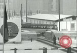 Image of Friedrichstrasse checkpoint of Berlin Wall Berlin Germany, 1961, second 47 stock footage video 65675063223
