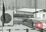 Image of Friedrichstrasse checkpoint of Berlin Wall Berlin Germany, 1961, second 49 stock footage video 65675063223
