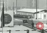 Image of Friedrichstrasse checkpoint of Berlin Wall Berlin Germany, 1961, second 50 stock footage video 65675063223
