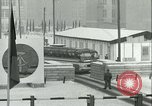 Image of Friedrichstrasse checkpoint of Berlin Wall Berlin Germany, 1961, second 51 stock footage video 65675063223