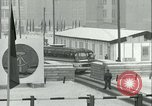 Image of Friedrichstrasse checkpoint of Berlin Wall Berlin Germany, 1961, second 52 stock footage video 65675063223