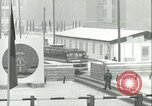 Image of Friedrichstrasse checkpoint of Berlin Wall Berlin Germany, 1961, second 53 stock footage video 65675063223