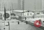 Image of Friedrichstrasse checkpoint of Berlin Wall Berlin Germany, 1961, second 54 stock footage video 65675063223