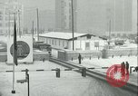 Image of Friedrichstrasse checkpoint of Berlin Wall Berlin Germany, 1961, second 55 stock footage video 65675063223