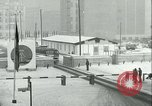 Image of Friedrichstrasse checkpoint of Berlin Wall Berlin Germany, 1961, second 56 stock footage video 65675063223