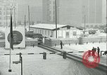 Image of Friedrichstrasse checkpoint of Berlin Wall Berlin Germany, 1961, second 59 stock footage video 65675063223