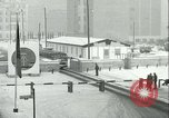 Image of Friedrichstrasse checkpoint of Berlin Wall Berlin Germany, 1961, second 60 stock footage video 65675063223