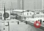 Image of Friedrichstrasse checkpoint of Berlin Wall Berlin Germany, 1961, second 62 stock footage video 65675063223
