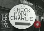 Image of Friedrichstrasse checkpoint Berlin Germany, 1961, second 4 stock footage video 65675063224