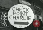 Image of Friedrichstrasse checkpoint Berlin Germany, 1961, second 5 stock footage video 65675063224