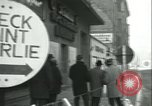 Image of Friedrichstrasse checkpoint Berlin Germany, 1961, second 8 stock footage video 65675063224