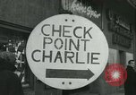 Image of Friedrichstrasse checkpoint Berlin Germany, 1961, second 19 stock footage video 65675063224