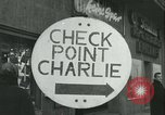 Image of Friedrichstrasse checkpoint Berlin Germany, 1961, second 20 stock footage video 65675063224