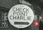 Image of Friedrichstrasse checkpoint Berlin Germany, 1961, second 23 stock footage video 65675063224
