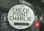 Image of Friedrichstrasse checkpoint Berlin Germany, 1961, second 24 stock footage video 65675063224