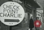 Image of Friedrichstrasse checkpoint Berlin Germany, 1961, second 26 stock footage video 65675063224