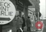 Image of Friedrichstrasse checkpoint Berlin Germany, 1961, second 27 stock footage video 65675063224