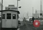 Image of Friedrichstrasse checkpoint Berlin Germany, 1961, second 43 stock footage video 65675063224