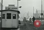 Image of Friedrichstrasse checkpoint Berlin Germany, 1961, second 44 stock footage video 65675063224