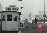 Image of Friedrichstrasse checkpoint Berlin Germany, 1961, second 45 stock footage video 65675063224
