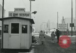 Image of Friedrichstrasse checkpoint Berlin Germany, 1961, second 46 stock footage video 65675063224