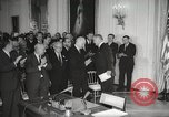 Image of President Johnson signs Civil Rights Act Washington DC USA, 1964, second 33 stock footage video 65675063243