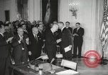 Image of President Johnson signs Civil Rights Act Washington DC USA, 1964, second 34 stock footage video 65675063243
