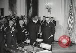 Image of President Johnson signs Civil Rights Act Washington DC USA, 1964, second 35 stock footage video 65675063243