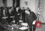 Image of President Johnson signs Civil Rights Act Washington DC USA, 1964, second 37 stock footage video 65675063243