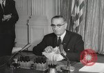 Image of President Johnson signs Civil Rights Act Washington DC USA, 1964, second 41 stock footage video 65675063243
