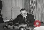 Image of President Johnson signs Civil Rights Act Washington DC USA, 1964, second 46 stock footage video 65675063243