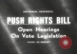 Image of Johnson urges passage of Voting Rights Act United States USA, 1965, second 1 stock footage video 65675063247